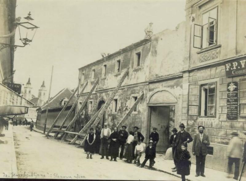 Wolfova ulica v Ljubljani leta 1895